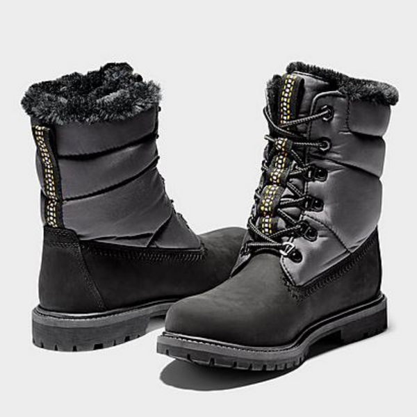Women's TIMBERLAND Premium 6-inch Puffer Winter Boot in Black