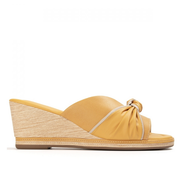 Women's ANITA Sandal in Mustard Yellow from PICCADILLY