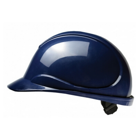 The Wave Navy Blue Hard Hat: CSA Type 2, Class E, Ratchet Suspension