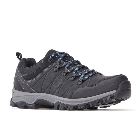 Men's Walking/Hiking Lace-Up Shoe in Black