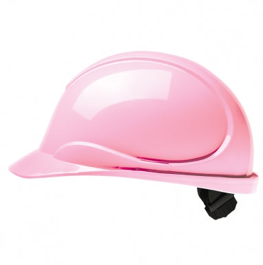 The Wave Pink Hard Hat: CSA Type 2, Class E, Ratchet Suspension