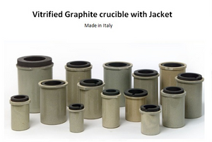 Delmer Vitrified Crucible with Jacket