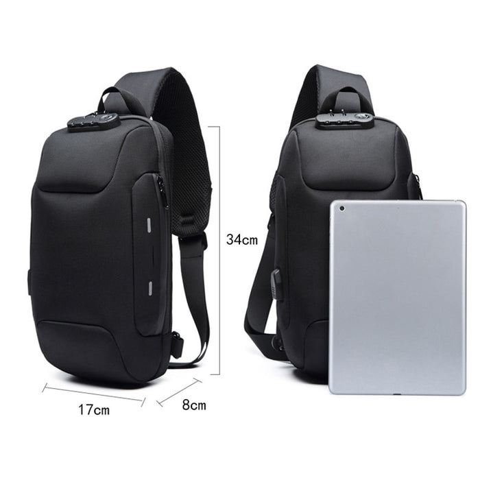 Anti-theft Backpack With 3-Digit Lock - F4TW