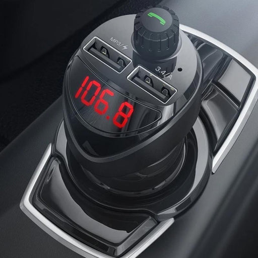 FM TRANSMITTER BLUETOOTH CAR CHARGER