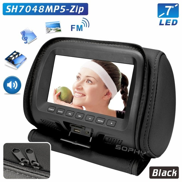 Universal 7 Inch Headrest Monitor