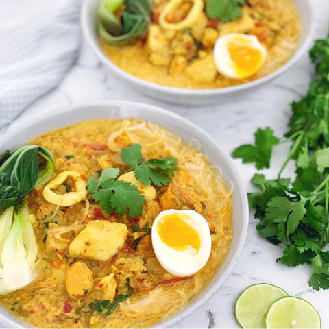 Moroccan seafood laksa recipe just flavour chef natural healthy