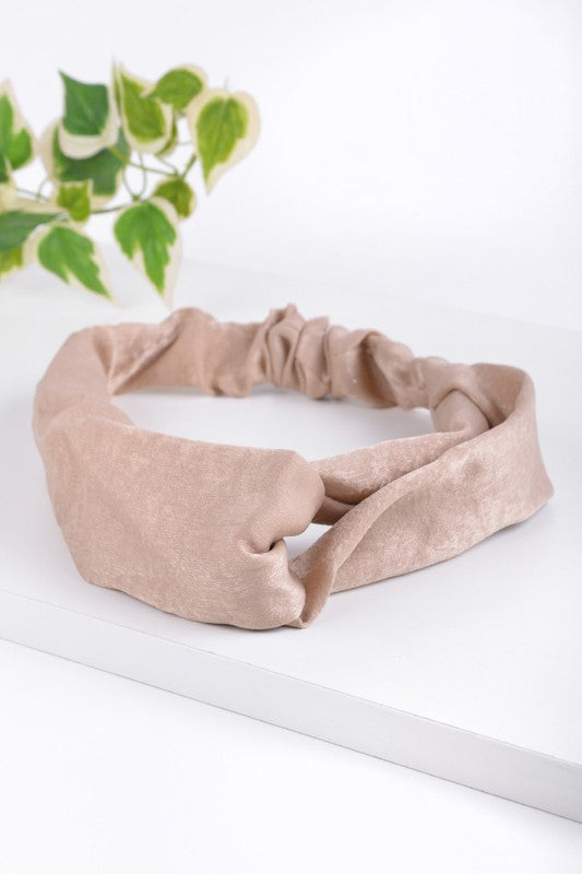 Criss Cross Soft Light Tan Headband