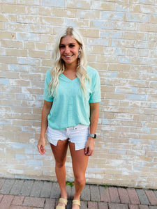 Sunset Day Top- Mint
