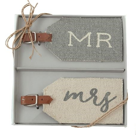 Mr. & Mrs. Dhurrie Luggage Tags