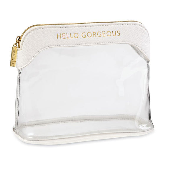 Clear Make-Up Bag White