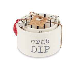 Crab Nested Dip Bowl Set