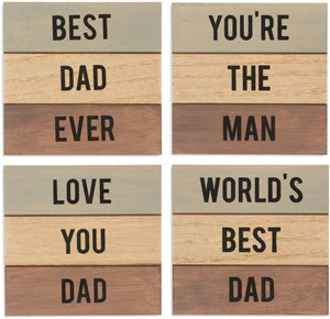 Dad 4 Piece Coaster Set