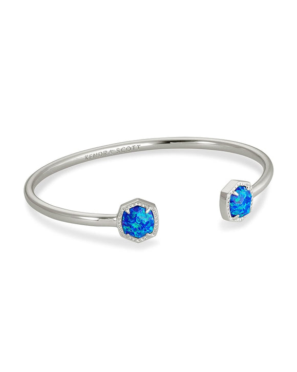 Davie Silver Cuff Royal Blue Kyocera Opal