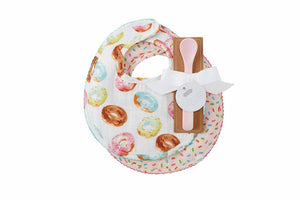 Donut Muslin Bibs and Spoons