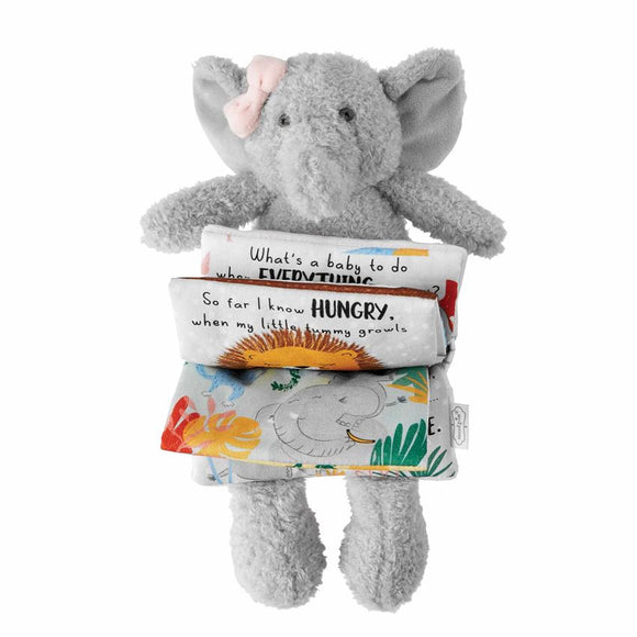 Pink Elephant Plush Book