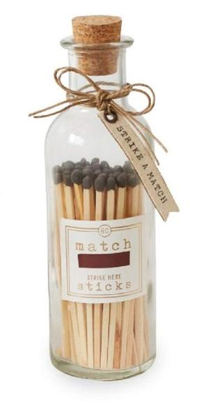 Large Grey Matches In Bottle