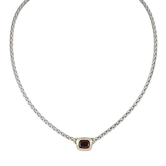 Nouveau Single Strand Garnet Necklace