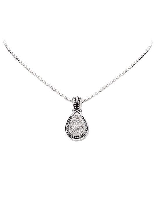 Ocean Images Sparkling Seas Pave Teardrop Necklace
