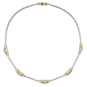 Antiqua Collection 5 Station Circle Necklace