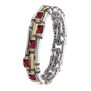 CANIAS Three Row Garnet Bracelet