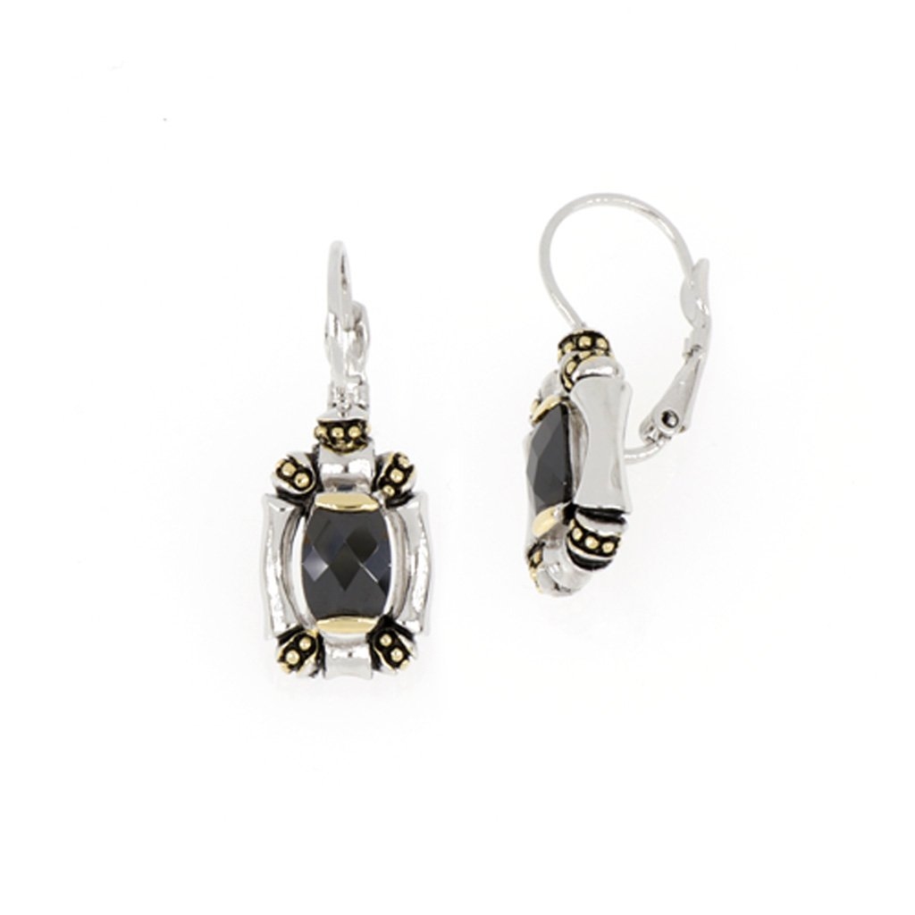 Canias Black French Wire Earrings