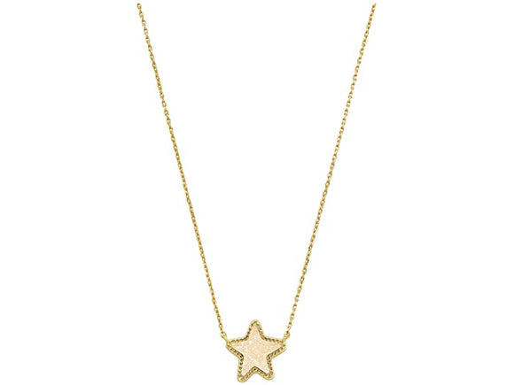 Jae Star Gold Iridescent Druzy Necklace