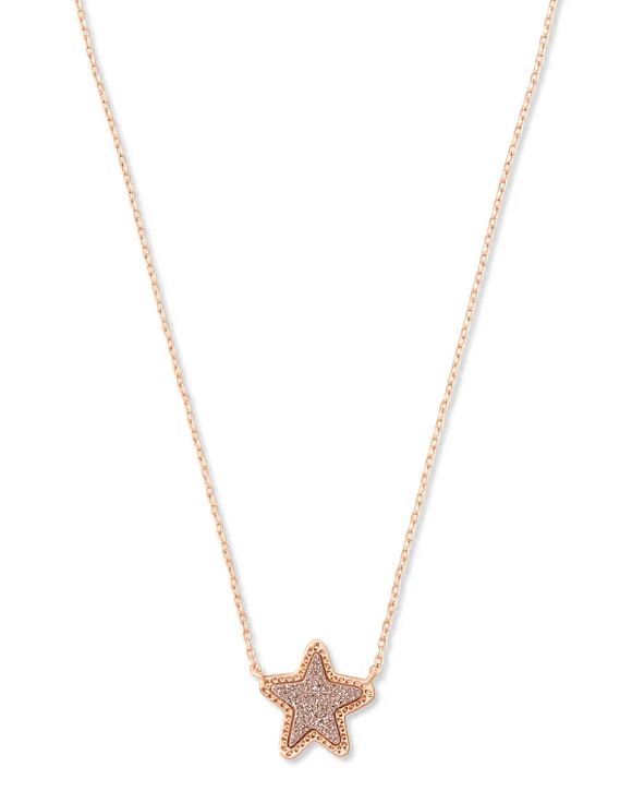 Jae Star Rose Gold Druzy Necklace