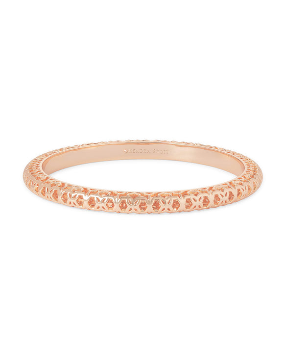 Maggie Bangle in Rose Gold Filigree