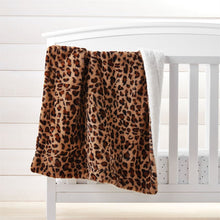 Load image into Gallery viewer, Leopard Faux Fur Blanket