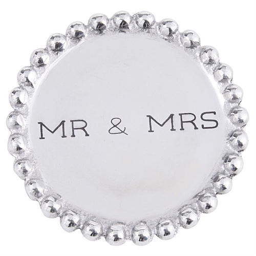Mr. & Mrs. Beaded Coasters