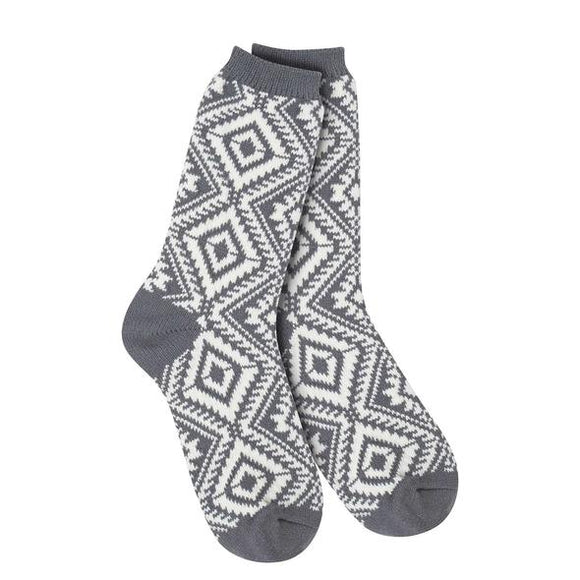 Weekend Gallery Aztec Charcoal Socks