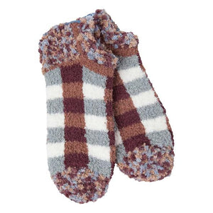 Cozy Low Woods Plaid Socks