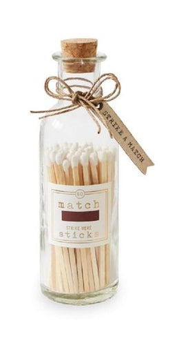 Large White Matches In Bottle