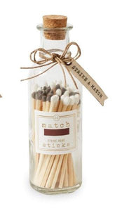 Large White & Grey Matches In Bottle