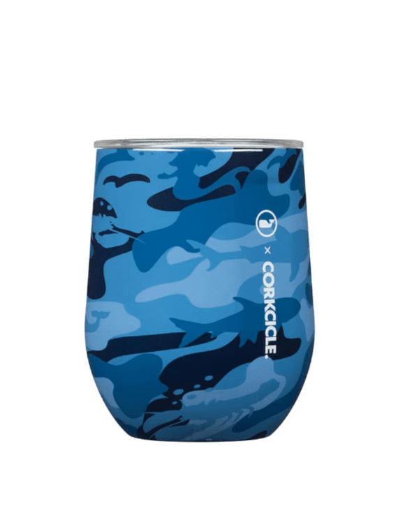 Vineyard Vines Blue Camo 12 Oz Stemless