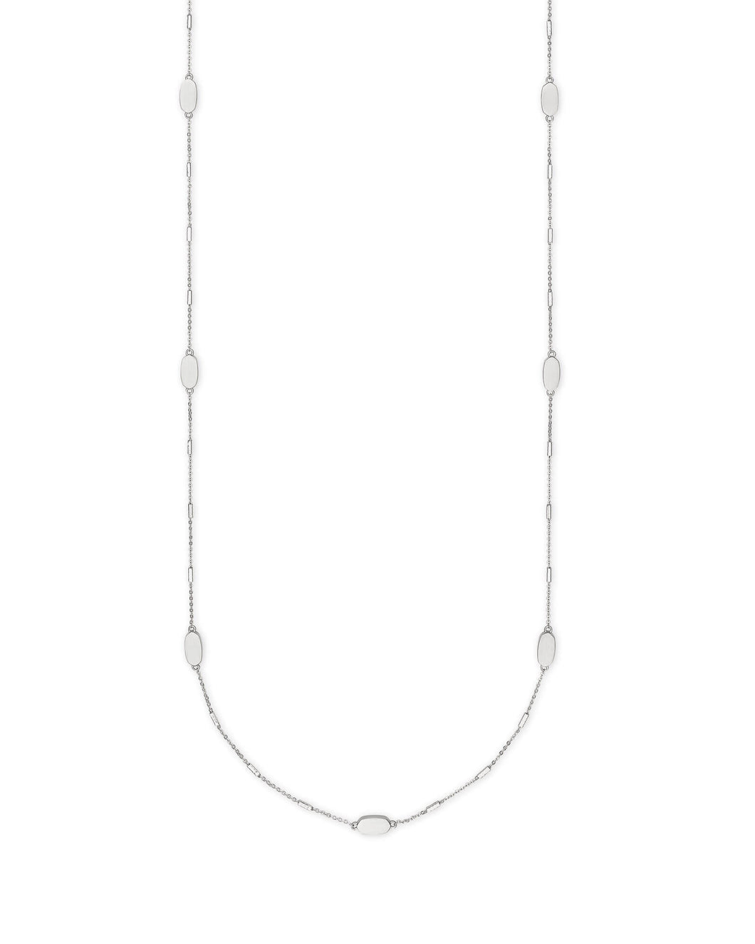 Franklin Long Necklace in Silver