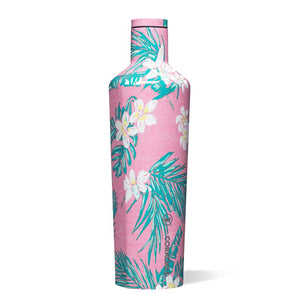 Vineyard Vines Pink Tropical Flowers 25 Oz Canteen