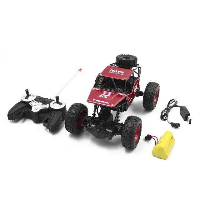 1:18 RC Car Remote Control Bigfoot Off-road Vehicle 18km/h High Speed 2.4G Radio Control RC Car Model Toys Gifts For Children