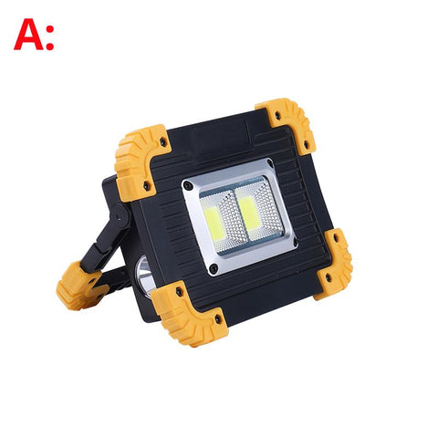 100W Led Portable Spotlight Work Light USB Rechargeable 5000lums LED Flashlight Outdoor Light For Hunting Camping 18650 Battery