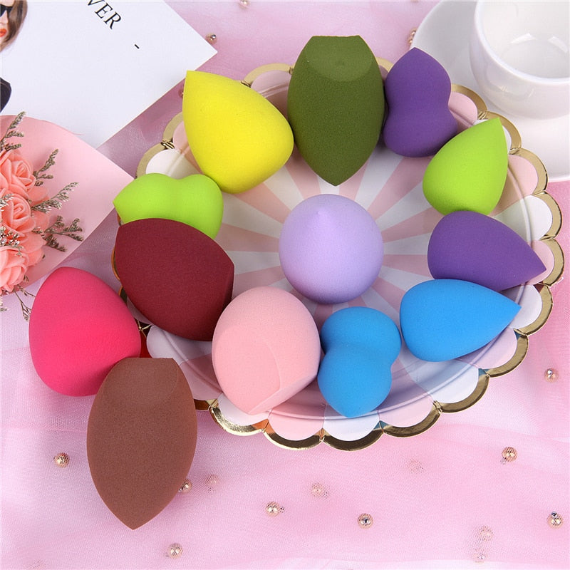 19 Colors Makeup Sponge Cosmetic Powder Puff Smooth Women Girls Makeup Foundation Sponge Beauty to Make Up Tools Accessories