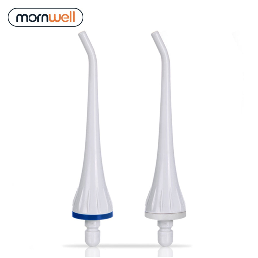 2 Replacement Tips Compatible With Mornwell D50&D52 Water Flosser Oral Irrigator For Braces