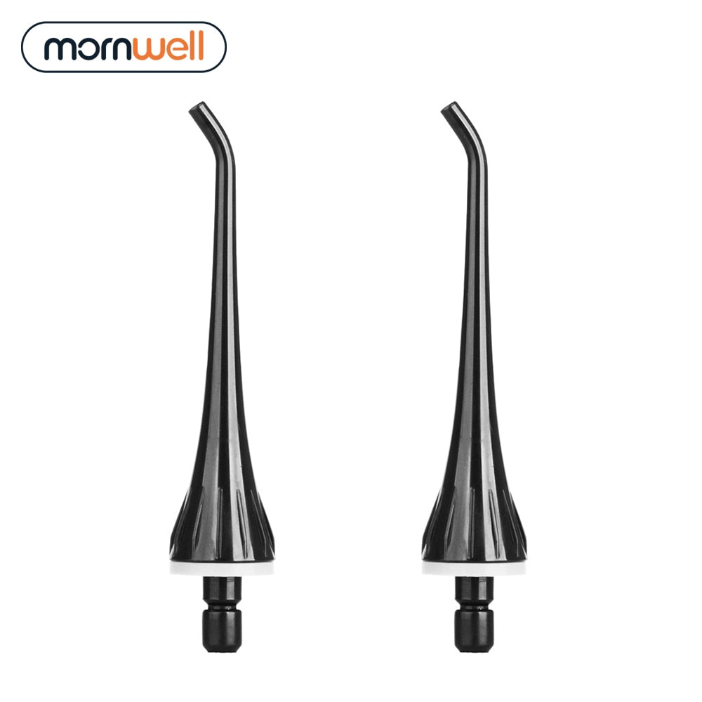 2 Replacement Tips Compatible With Mornwell D50BS Water Flosser Oral Irrigator For Braces