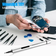 Portable Mini Alloy Rechargeable Automatic Electric Screwdriver Repair Tool