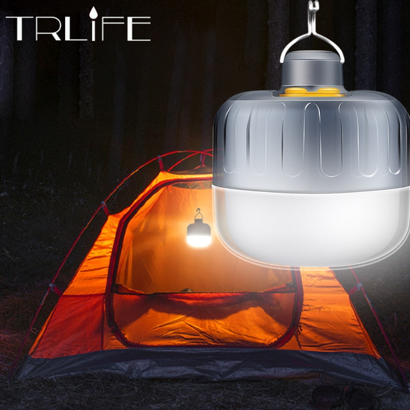 7200mAh USB Rechargeable LED Camping Light Emergency Lights Portable Lantern Powered Outdoor BBQ Hanging Light for Patio/Porch