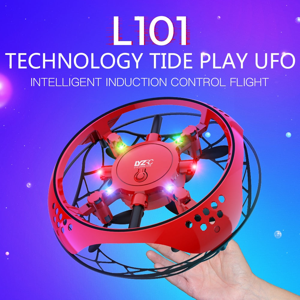 Anti-collision Quadcopter UFO Mini Drone Hand Flying Globe Hand Controlled Helicopter LED Induction Flying Ball Aircraft RC Toys