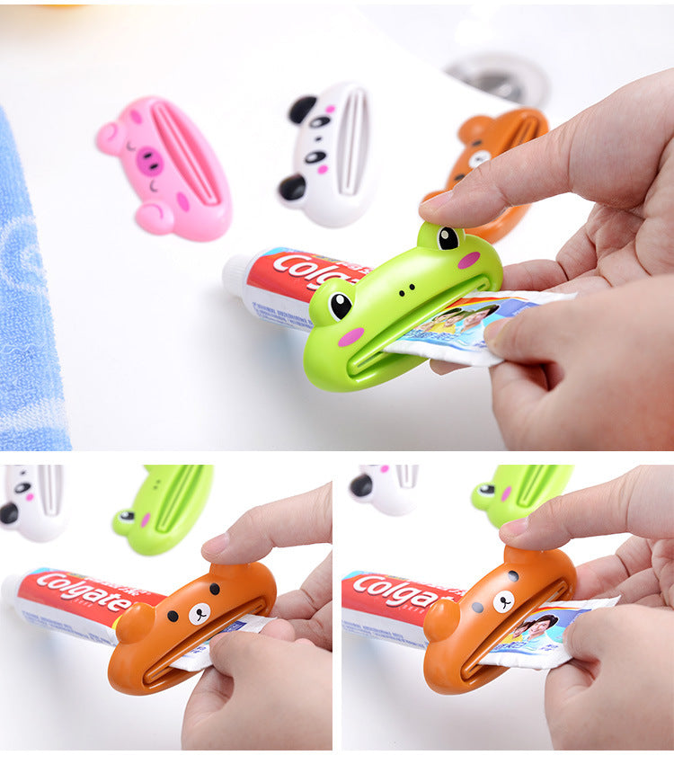 Cartoon Tube Rolling Holder Squeezer Toothpaste Dispenser Easy Press Squeezing Tool toothpaste rolling bracket Bathroom Supplies