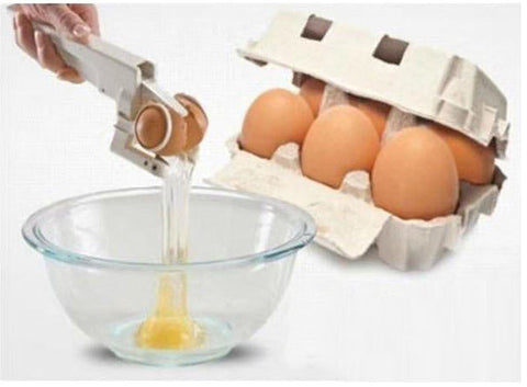 Egg Cracker Handheld York & White Separator As Seen On TV Helper New Egg Opener Kitchen Gadget Tool