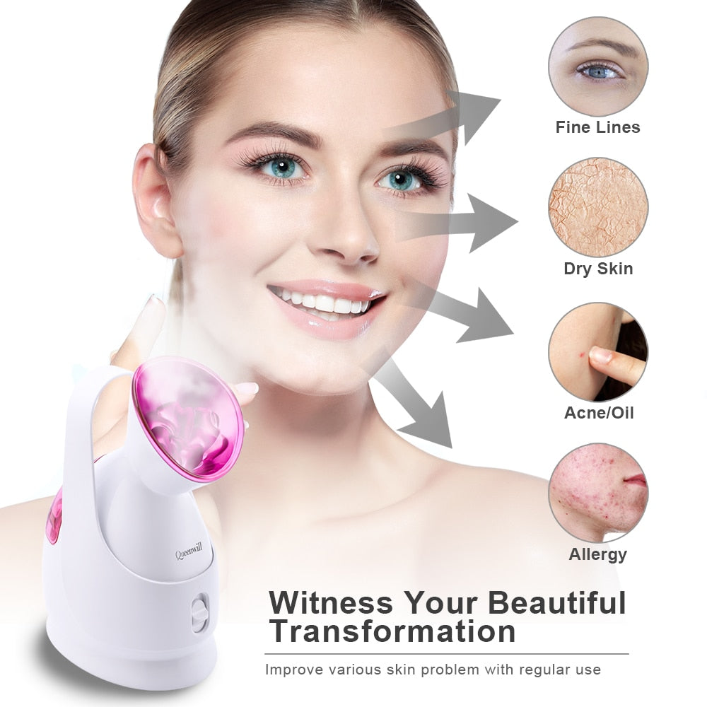 Facial Face Steamer Deep Cleanser Professional Face Steamer Humidifier Skin Moisturizing Home Sauna SPA For Women Skin Care Tool