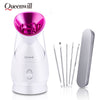 Image of Facial Face Steamer Deep Cleanser Professional Face Steamer Humidifier Skin Moisturizing Home Sauna SPA For Women Skin Care Tool