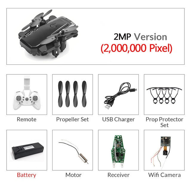 Foldable Mini Drone With RC Quadrocopter With Camera HD Quad-Counter With High Hold RC Helicopter VS E61 HS210 E511S S9HW E016H
